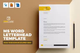Psd Letterhead Template Letterhead Template Stationery Templates Creative Market 10
