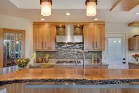 live wood edge island top contemporary kitchen san francisco