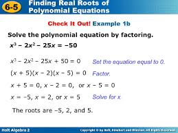 example 1b solve the polynomial equation by factoring x3 2x2