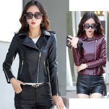 2019 m 5xl plus size faux leather jackets women gothic biker jacket black coat windbreaker streetwear veste femme outerwear cazadora from bunnier