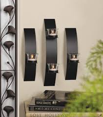 contemporary wall sconce trio modern wall candle holders house interiors