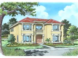 luxury florida style two story has grand entrance with balcony above