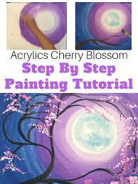 directions at a glance cherry blossom tree painting