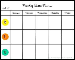 Excel Weekly Meal Planner Weekly Dinner Menu Template Breakfast H And Excel Planner Weekly