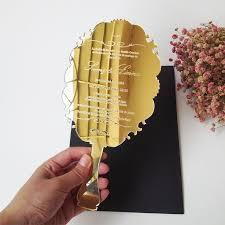 Sample order for 123*238mm handheld mirror shape <b>golden mirror</b> ...