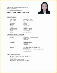 Simple Resume Format Bestresume Com