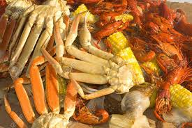 A Seafood Medley Of Crab Legs, Crayfish ...