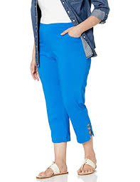 Slim Sation Womens Plus Size Pull On Skinny Crop With Slant Front Pockets