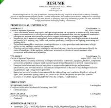 Electrical Engineering Resume Objective Network Engineer Student