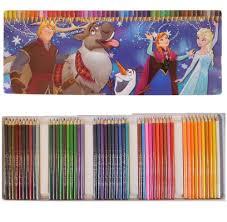 Boite 50 Crayon De Couleur Frozen Reine Des Neiges Dessin Coloriage