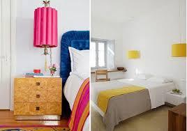 colorful hanging pendant shades bedroom lighting via design blog