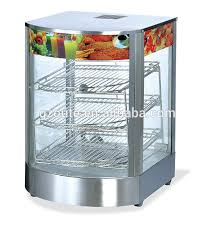 Hot Food Display Stands Amazing Restaurant Equipment Commercial 32 Sides Glass Door Hot Food Warmer