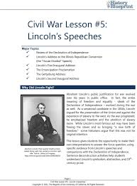 abraham lincoln essay civil war lesson lincoln s speeches pdf  civil war lesson lincoln s speeches pdf abraham lincoln s public justification for war evolved over lincoln essay