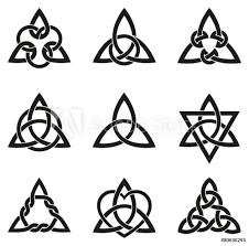 Fotografie Obraz Nine Celtic Triangle Knots Posterscz