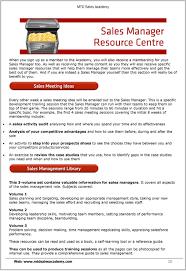 Sales Meeting Topic The Mtd Sales Training Academy Pdf