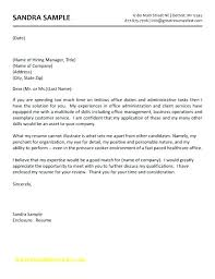 How To Writing A Cover Letter Administrative Assistant Cover Letter