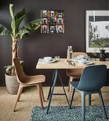 ikea modern furniture. Create A Cosy Dining Spot In Your Living Room With Modern Furniture From IKEA! Try This Lightweight Worktop Birch (KARLBY) Paired Trestles Grey Ikea