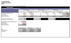 excel reconciliation template equity reconciliation report office templates