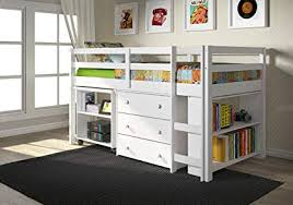 kids low loft bed. Interesting Low DONCO Kids 760W Low Study Loft Bed White Throughout Bed A
