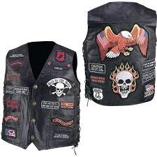 23 patches biker vest