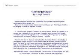 heart of darkness gcse english marked by teachers com document image preview