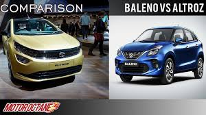 Baleno Size Chart Tata Altroz Vs Maruti Baleno Comparison Hindi Motoroctane