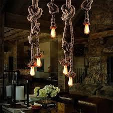 industrial lighting for home. vintage rope iron ceiling pan pendant lights retro industrial loft bar hemp lamp fixtures lamparas colgantes luminaria luz home lighting for