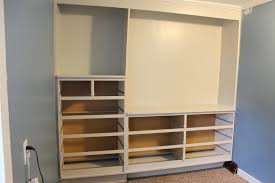 skeleton of wardrobe assembled and painted