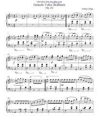 chopin spring waltz sheet music frederic chopin grande valse brillante op 18 in eb piano sheet