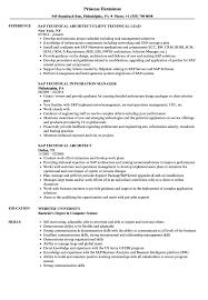 Technical Resume SAP Technical Resume Samples Velvet Jobs 14