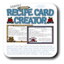 Recipe Cards Print Recipe Card Creator