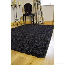 new small medium large modern black silver mix 2 tone soft thick gy bedroom rug