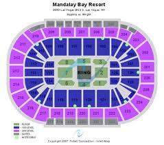Mandalay Bay Theater Seating Chart Abundant Mandalay Bay Arena Seating Chart Ufc Mandalay Bay