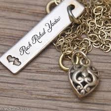 gold name pendant rahul pendant