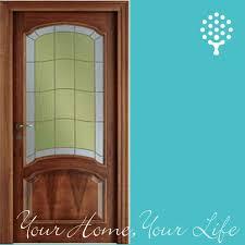 interior wood doors with glass insert