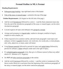outline templates for research papers free 9 sample mla outline templates in pdf word