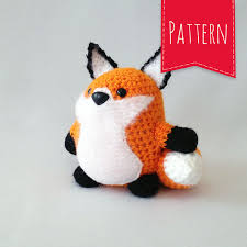 Crochet Fox Pattern Best Orange Fox Crocheted Plush Portly Pal Fox PDF Pattern Instant