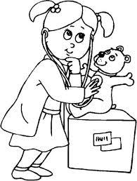 Afbeeldingsresultaat Voor Dokter Kleurplaat Kinderen
