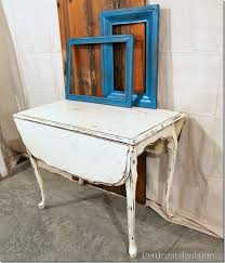 distressed white table. White Distressed Table E
