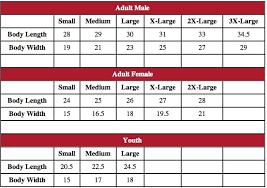 Youth Size Chart Small Medium Large American Classics Size Charts