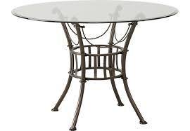 metal round dining table inside hoyt 45 in tables decorations 2