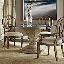 Glass top dining tables Wooden Dining Hooker Furniture Solana Round 60quot Glass Top Dining Table In Weathered Beige Amazoncom Amazoncom Hooker Furniture Solana Round 60