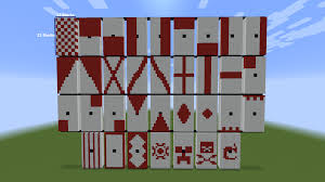 Minecraft How To Make A Banner Design All Banner Shapes On A Buildable Flag Designs Minecraft