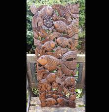 carved wooden 3ft fish wall panel 01 thai wood carvings asianwoodcraftuk on wood carved fish wall art with carved solid teak wood 3ft fish wood carvings wall art uk