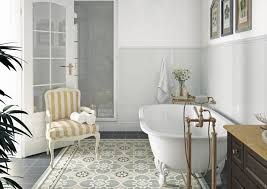 patterned floor tiles bathroom charter home ideas hot trend types tile patterns grey stick glazed porcelain