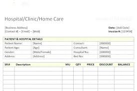 Hospital Bill Format Word In Document Medical Invoice Template Of ...
