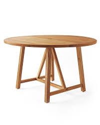 crosby teak round dining table