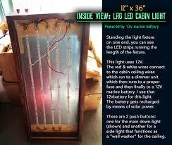 introduction diy 12v large led cabin light