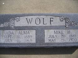 """Michael Hedrick """"Mike"""" Wolf, Jr (1885-1970) - Find A Grave Memorial"""