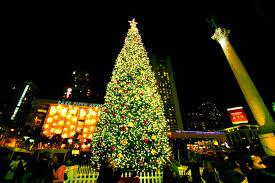 Ghirardelli Square Tree Lighting Ceremony 2015  Nov 27 2015 Christmas Tree In San Francisco